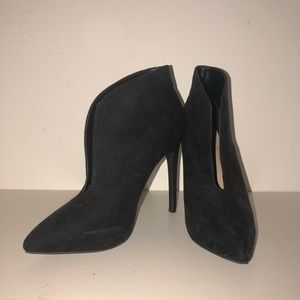 Slit High Heel Booties